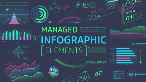 Managed Infographic Elements After Effects Template