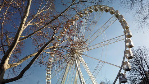 The famous Budapest Eye Ferris Wheel in Hungary Footage
