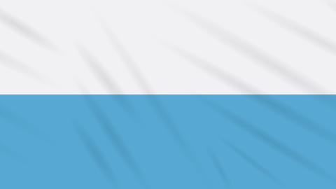 San Marino civil flag waving cloth background loop Animation