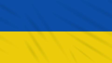 Ukraine flag waving cloth background, loop Animation