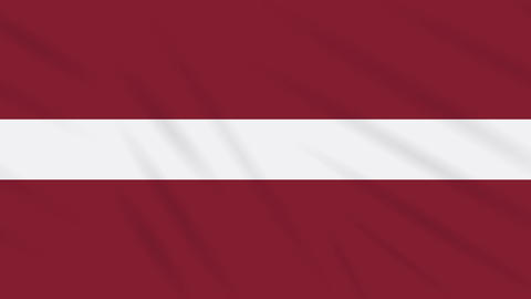 Latvia flag waving cloth background, loop Animation