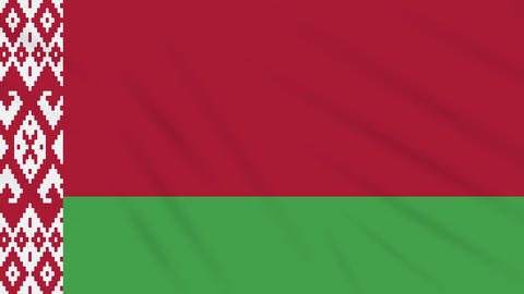Belarus flag waving cloth background, loop Animation