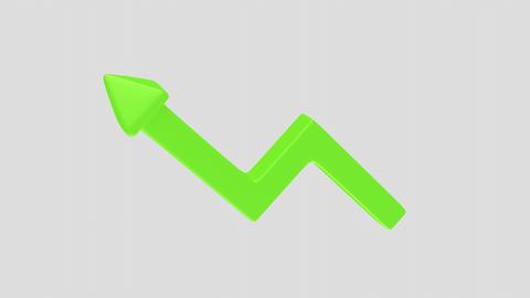 rotating green upward arrow Animation
