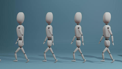 walking group of people. looped Animation