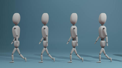 walking group of people Animation