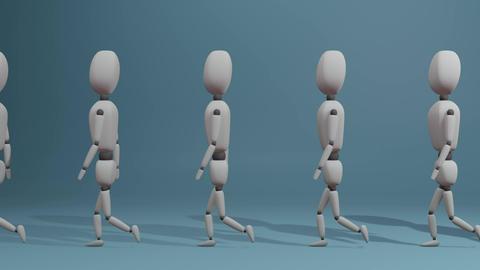walking group of people, Stock Animation