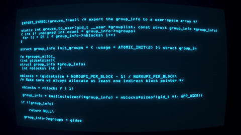 Blue Hacker Text Code on Screen Graphic Element Background Animation