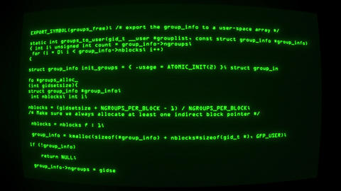 Green Hacker Text Code on Screen Graphic Element Background Animation