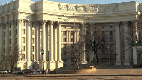 Building of the Ministry of foreign affairs in Kiev, Ukraine, 4k footage video Live Action