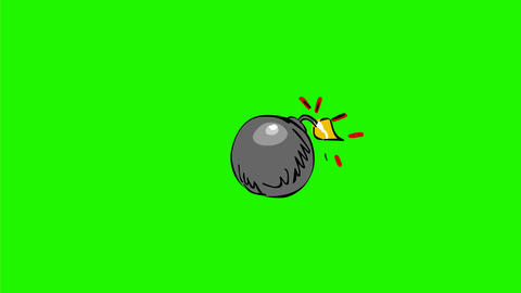 Ball Bomb Exploding Drawing 2D Animation Animation