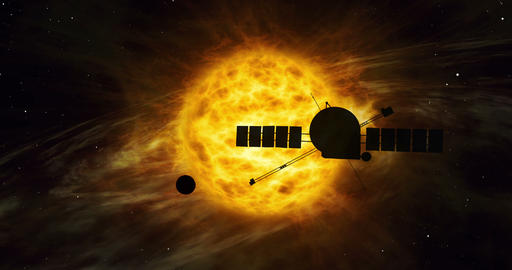 Distant solar system spacecraft exploration Animation