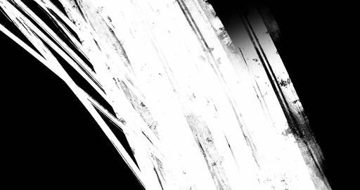 multi abstract splash ink paint brush horizontal stroke black and white transition on chroma key Live Action