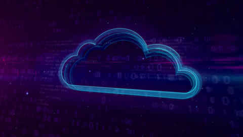 Cyberspace digital concept with cloud Animation