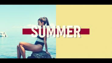 Summer Opener Logo After Effects Template