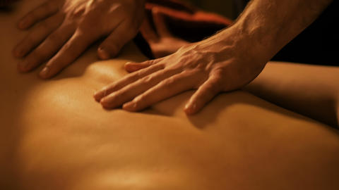 Body massage and spa treatment in spa salon Live Action