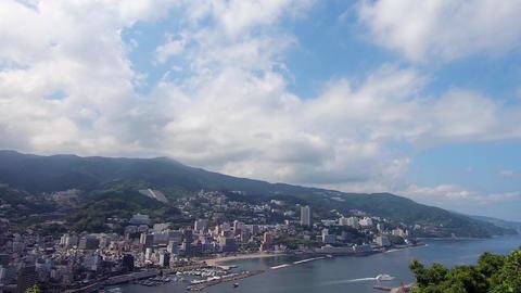 Japan's tourist destination. Cityscape of Atami ライブ動画