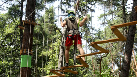 Man climbing in Adventure Park