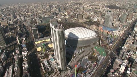 東京ドーム 空撮 Footage