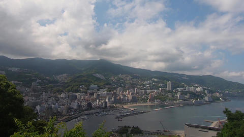 View of Atami, a tourist city in Japan ビデオ