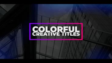 Colorful Creative Titles After Effects Template