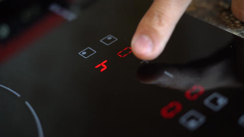 The electronic touch panel of the induction cooker Footage