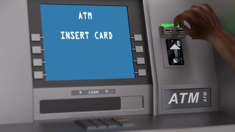 Insolvent customer checks credit card balance Animation