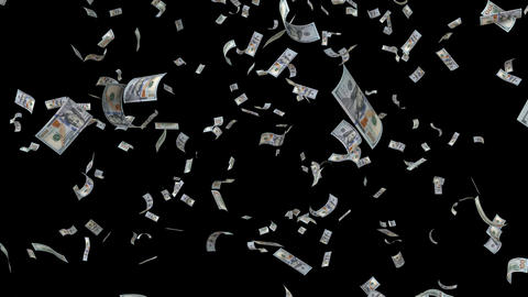 Falling Dollar bills GIF
