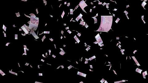 Falling euro bills GIF