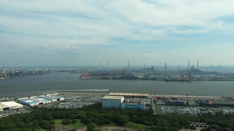 Panoramic view of the industrial area Footage