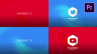 Search Social Logo Motion Graphics Template
