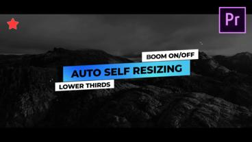 Lower Thirds Auto Self Resizing Motion Graphics Template
