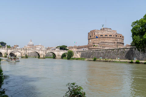 View Of Rome with Vatican St Peter Basilica of Vatican and St Angelo Bridge and Castle Photo