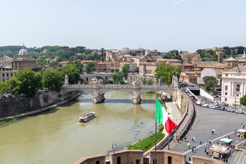 View Of Rome with Vatican St Peter Basilica of Vatican and St Angelo Bridge Photo