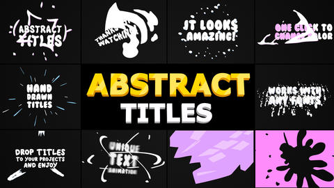 Abstract Cartoon Titles After Effects Template