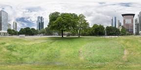 Gallusanlage park in Frankfurt Fotografía de realidad virtual (RV) en 360°