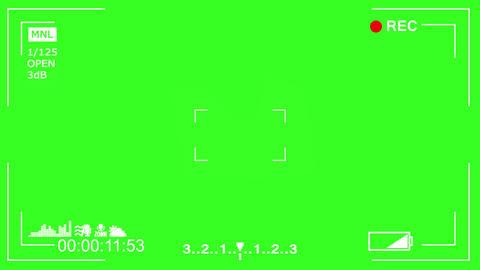 Video Camera Display 30sec 60FPS GreenScreen Footage