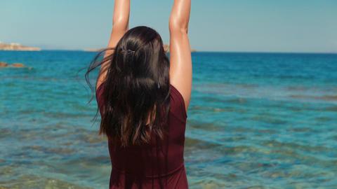 Enjoying the Sunshine in a Mediterranean Island Footage