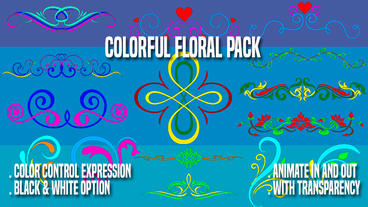 Colorful Floral Pack After Effects Template