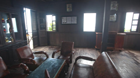 Room In Yersin House Museum with Original Furniture in Vietnam Footage