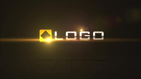 Simple Dark Business Logo Spin - Fire Optical Flare Light Streak Reveal Opener After Effects Template