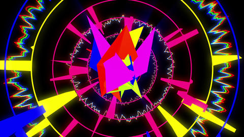 Crazy Color 4K 01 Vj Loop Animation