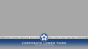 Corporate lower third After Effects Project