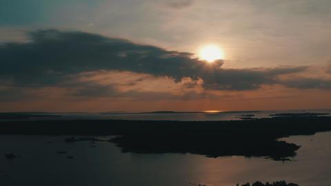 Gorgeous Aerial Establishing Shot Of Georgian Bay, Ontario Footage