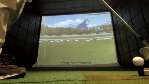 JSP-0485f Golf simulator Live Action