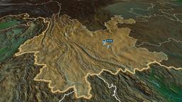 Yunnan - province of China. Physical Animation