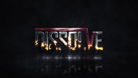 Dissolving Logo After Effects Template