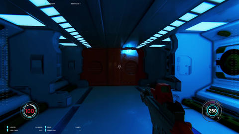 3D mock up scene of first person shooter Footage