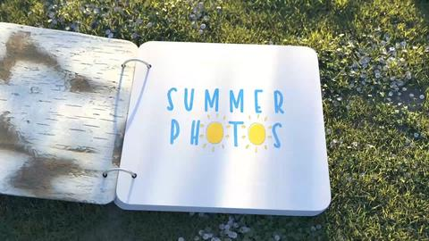 Summer Photo Album After Effectsテンプレート