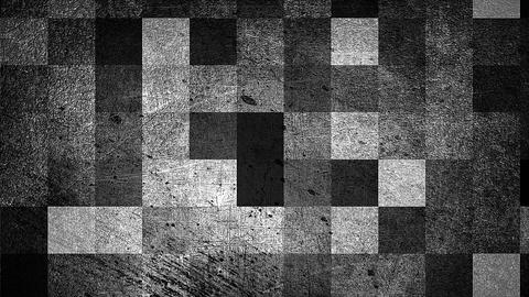 Modern grunge abstract background with squares, 3d render computer generated Footage