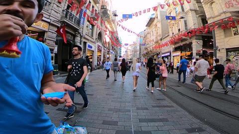 istiklal street istanbul ビデオ